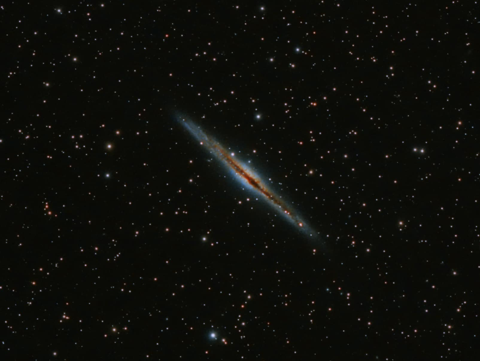 NGC891 Edge on galaxy in Andromeda