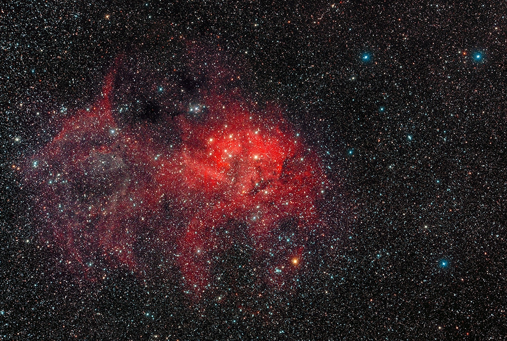The Lion Nebula (Sh2-132) in Cepheus